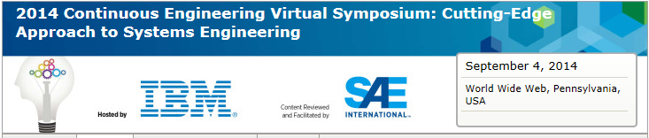 2014 Continuous Engineering Virtual Symposium