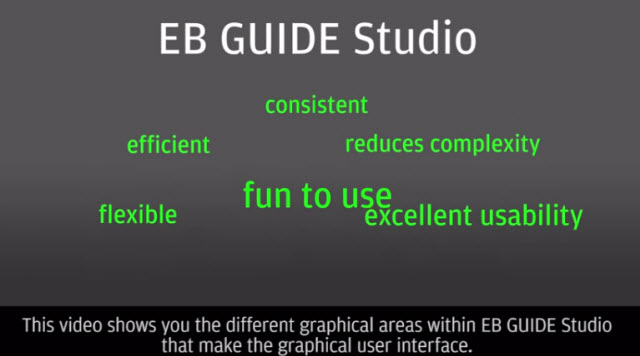 The new EB GUIDE Studio UI