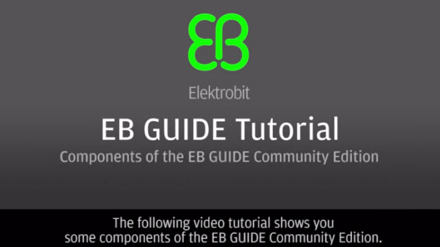 Components of the EB GUIDE Community Edition