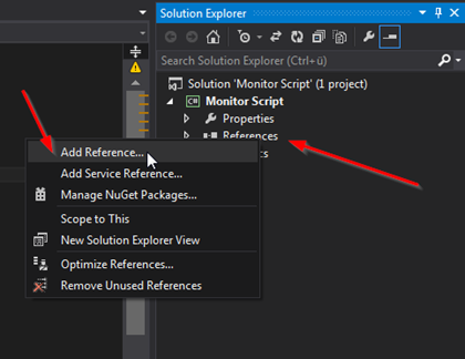 Add references to necessary EB GUIDE Monitor Libraries
