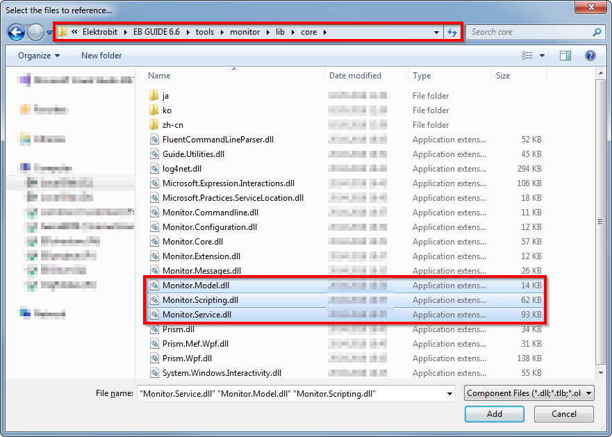 Select Libraries from EB GUIDE Studio installation folder