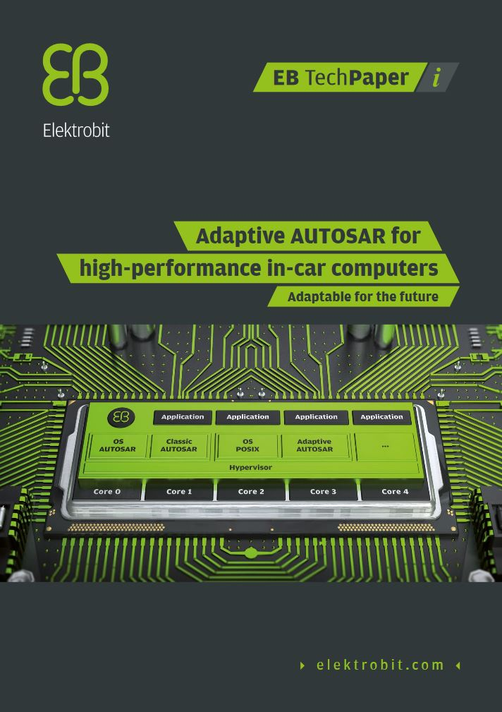 Adaptive AUTOSAR for high performance in-car computers