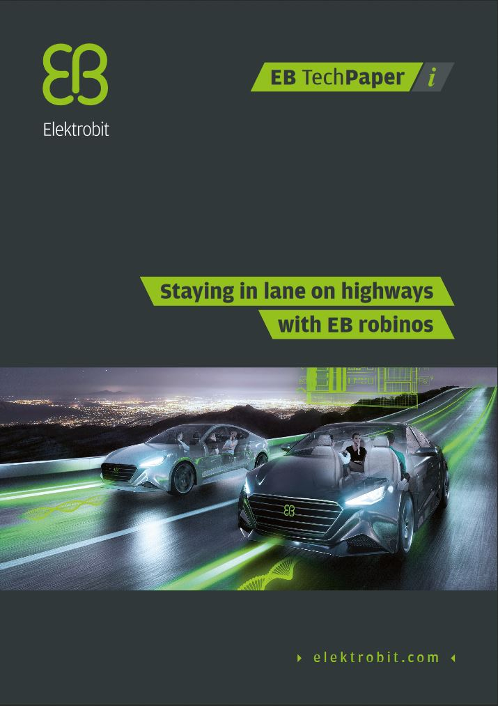 Staying in lane on highways with EB robinos