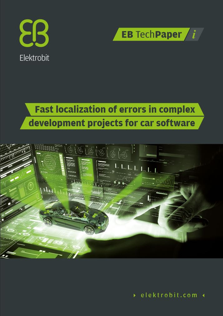 EB solys - Fast localization of errors in complex development projects for car software