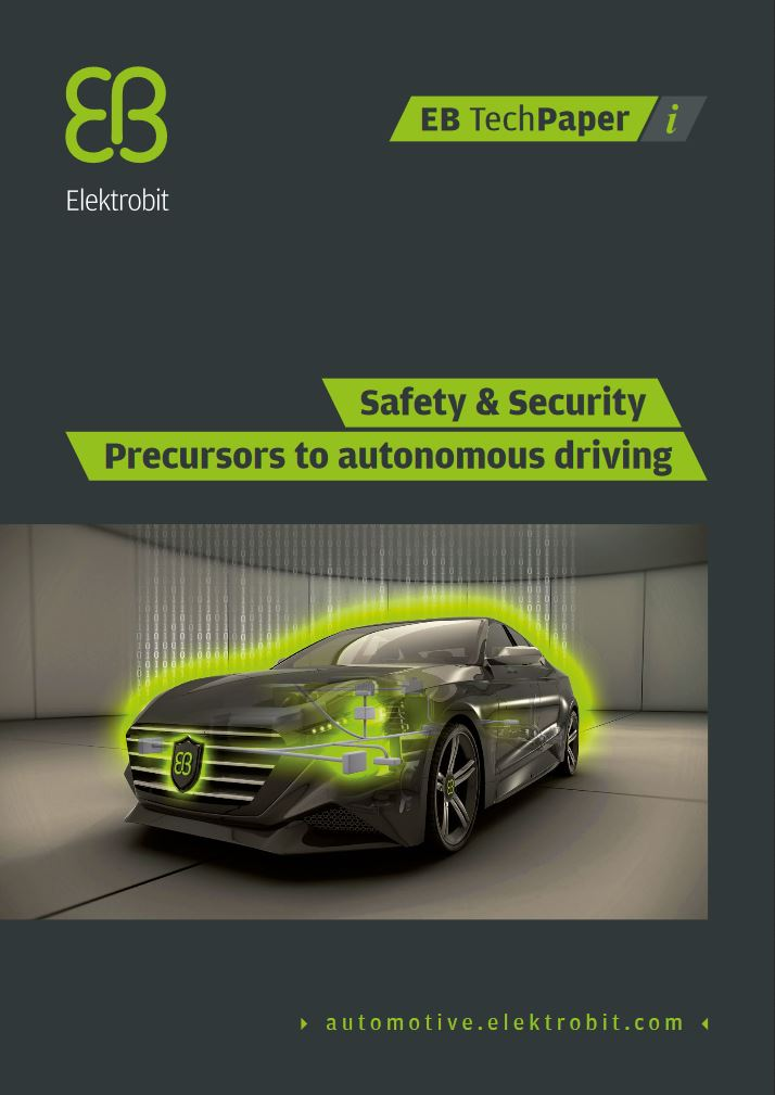 Safety & Security - Precursors to autonomous driving