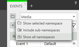 Namespace filter