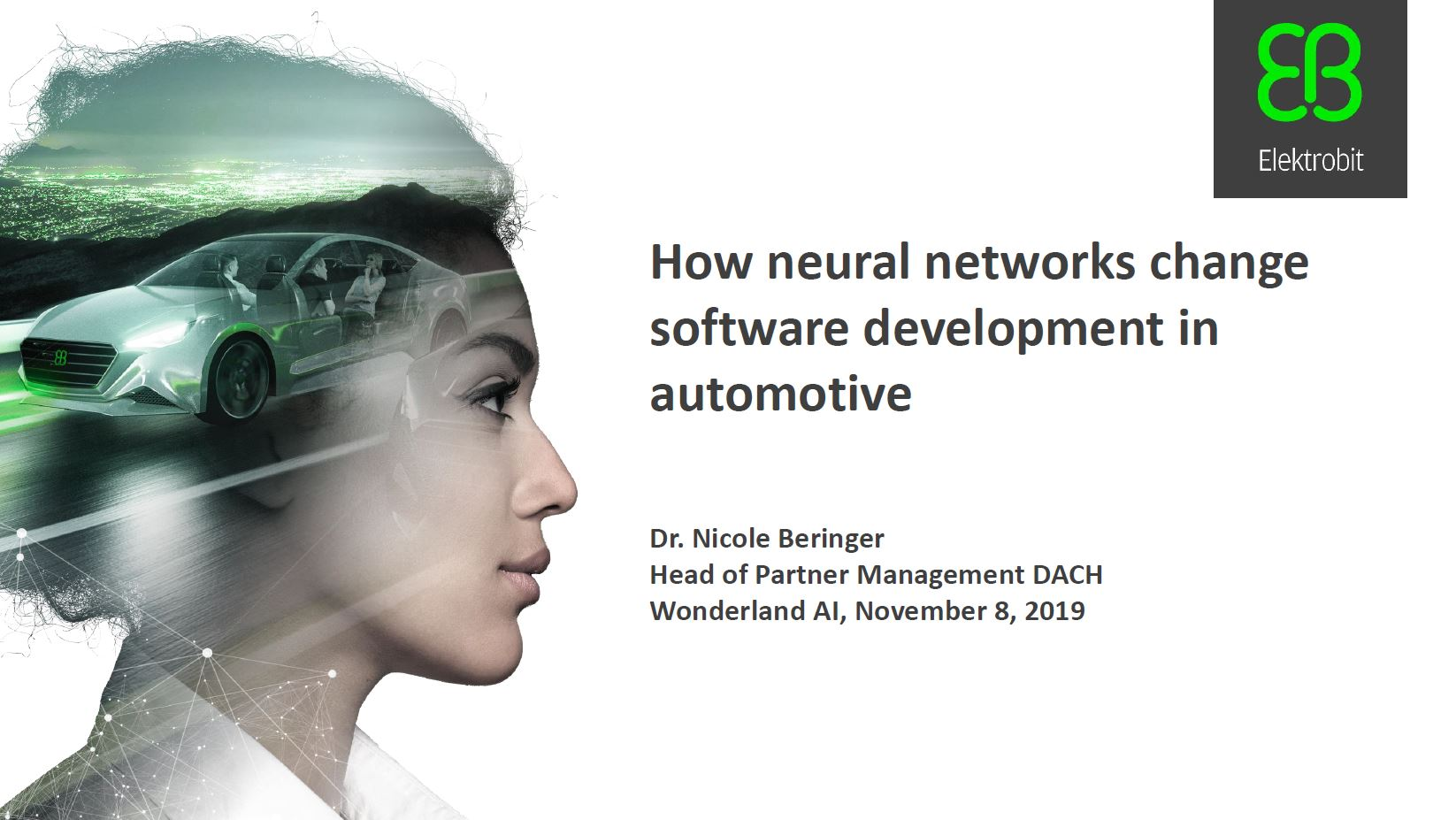 How neural networks change software development in automotive