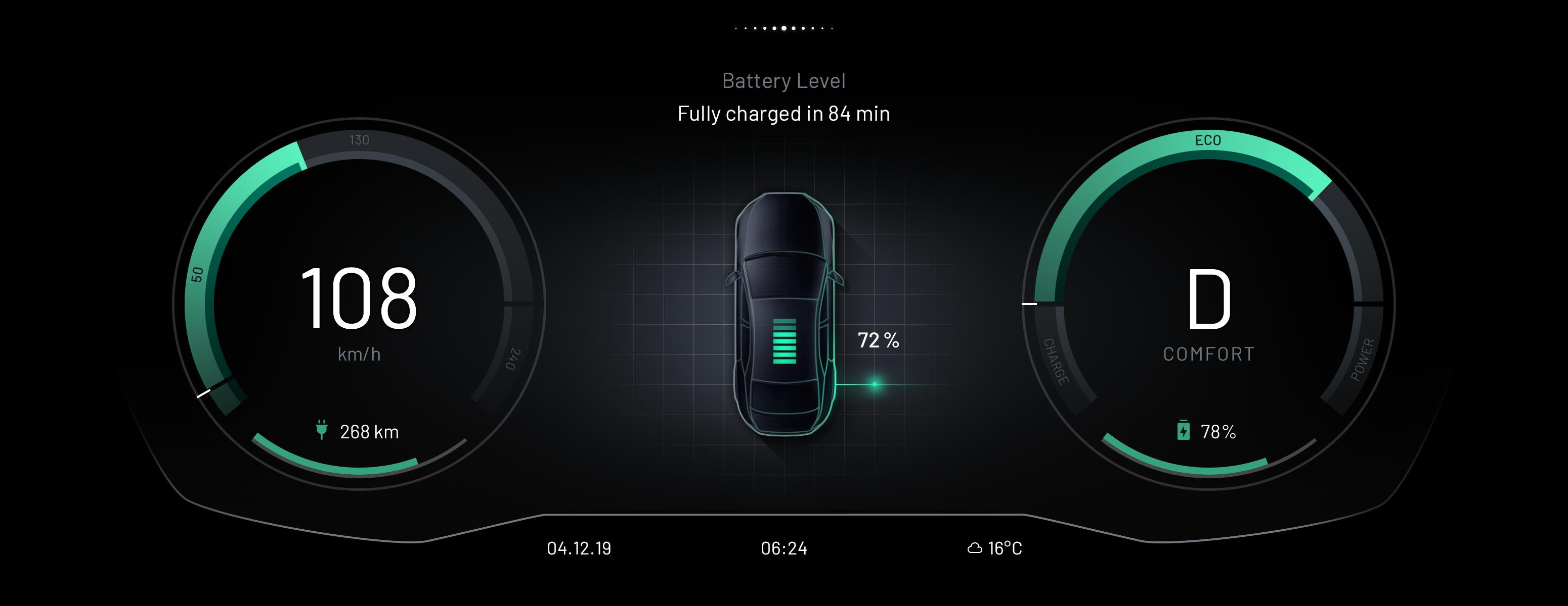 EB GUIDE Car HMI battery
