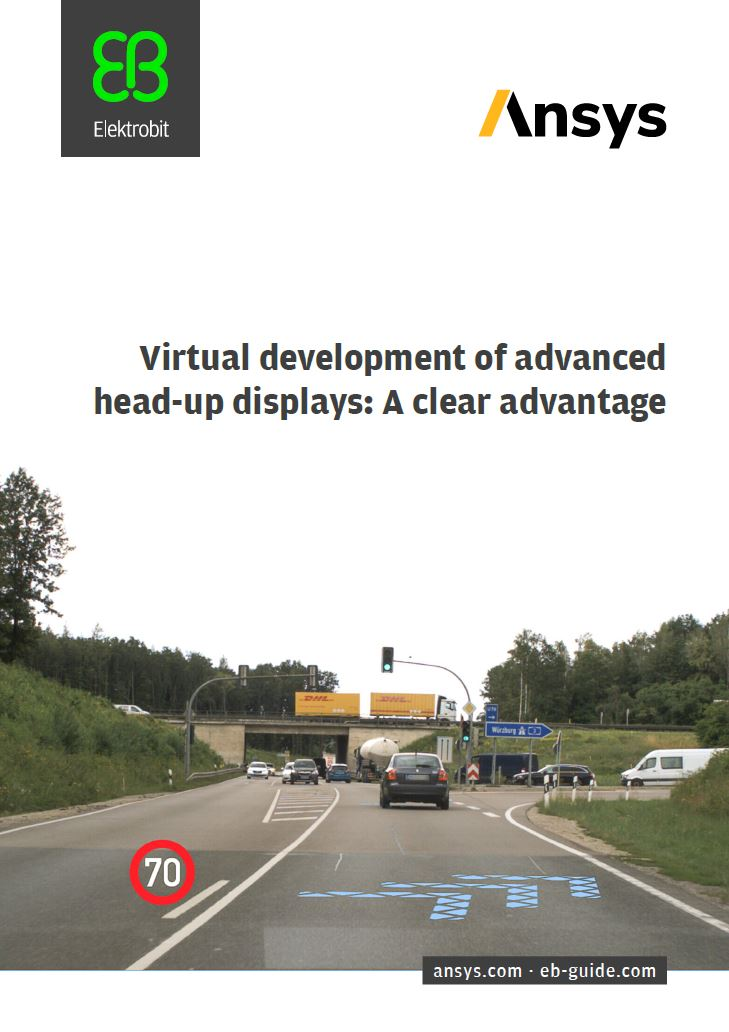 Virtual development of advanced head up displays